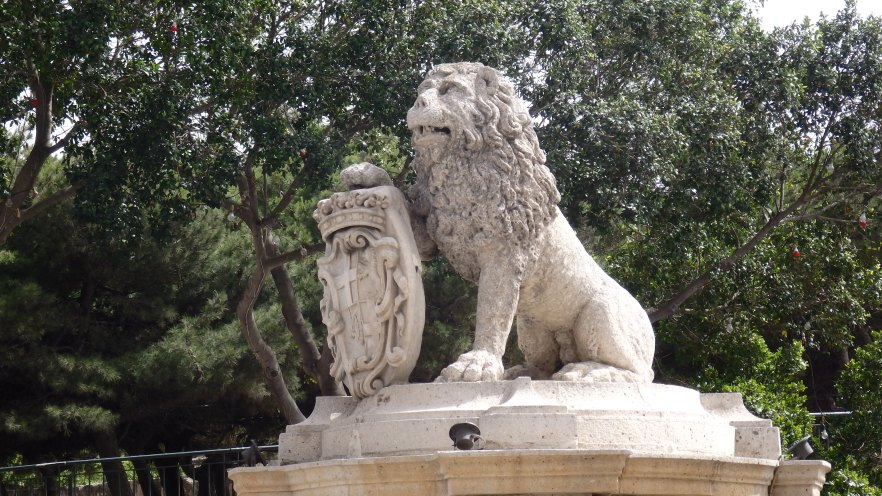 The Lion Fountain, Floriana, Malta