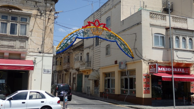 Decoration in the Streets for the Feast of Saints Peter and Paul (1), Msida Parish, Msida, Malta