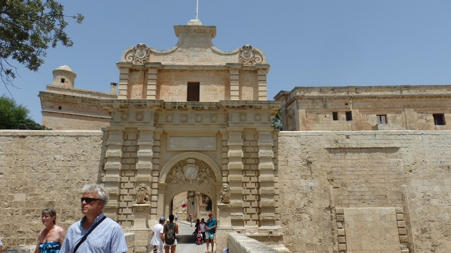 Entrance to the Fortress, Mdina, Malta
