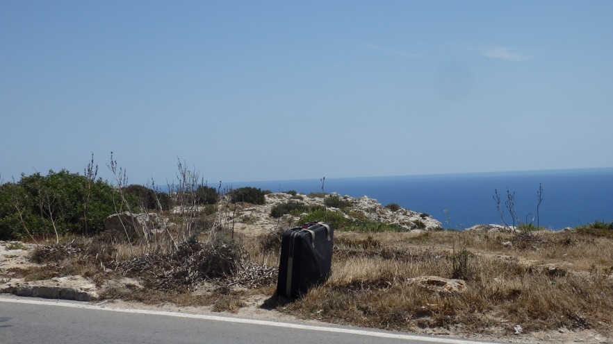 Suitcase in Nowhere, Dingli Cliffs, Dingli, Malta