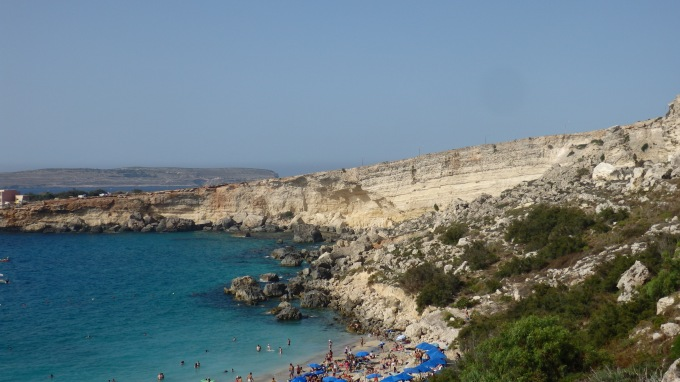 Paradise Bay, Cirkewwa, Malta - Nearly down at the beach