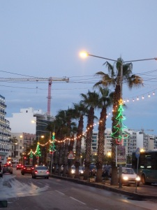 Christmas Lights and Palms, Sliema, Malta