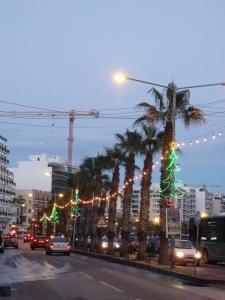 Christmas Lights and Palms, Sliema, Malta