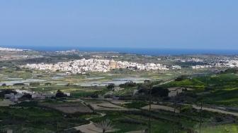 View on Mosta from Kuncizzjoni, Malta