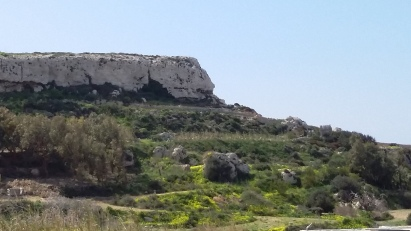 View on il-Qleigha Rock, Bahrija, Malta