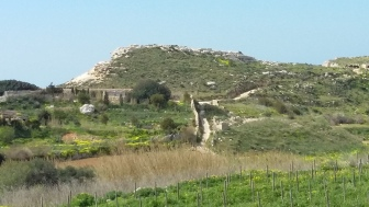 Another View on il-Qleigha Rock, Bahrija, Malta