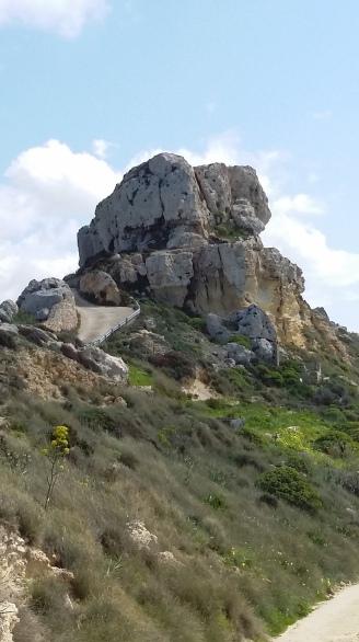 Amazing Rock of the Il-Qleigha Rocks, Bahrija, Malta