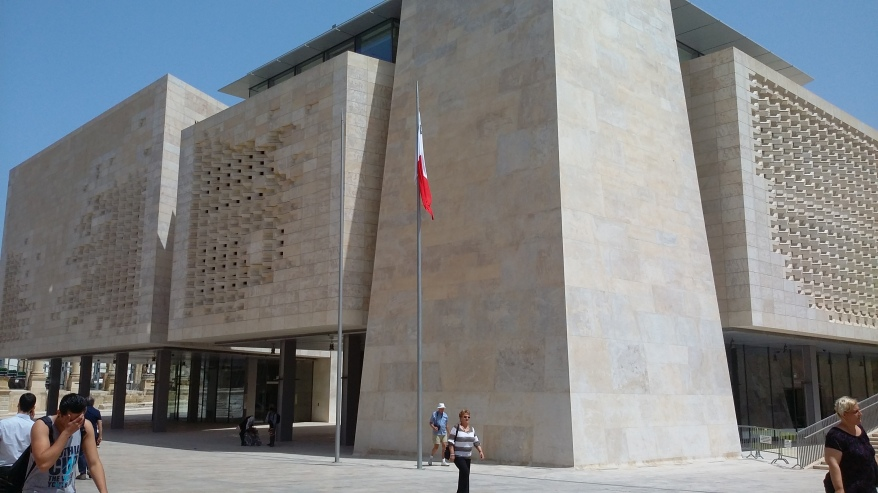 The New House of Parliament in Valletta