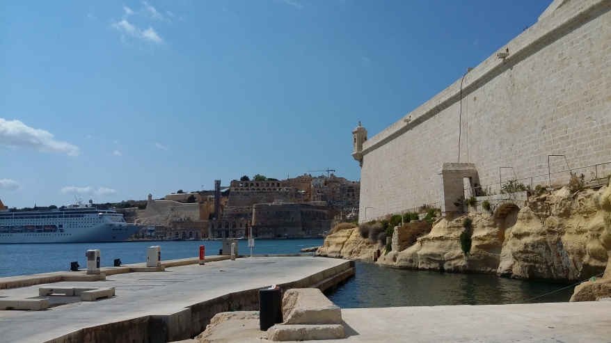 City Wall - Valletta Harbour