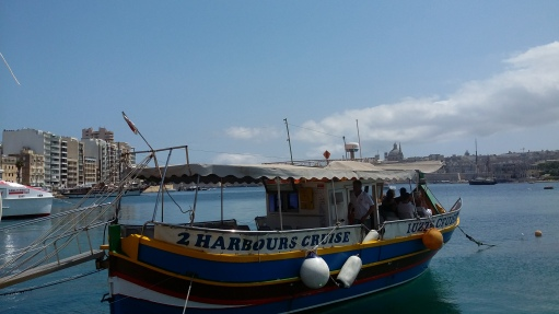 The Luzzu - A Traditional Maltese Fishing Boat, but Here Amended for Sightseeing