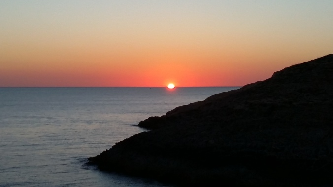 Sunset at Blue Grotto