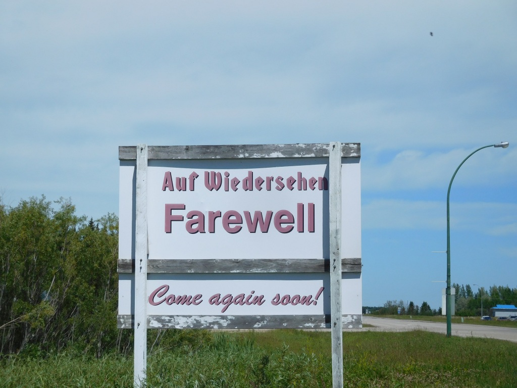 Leaving Humboldt, Saskatchewan,  Canada
