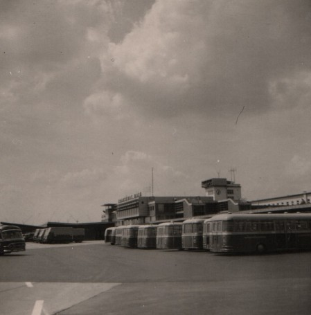 View of the Service Building of the Airport