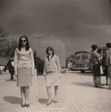 My girlfriend and me at the Airport of Frankfurt/Main. I am in the very foreground.